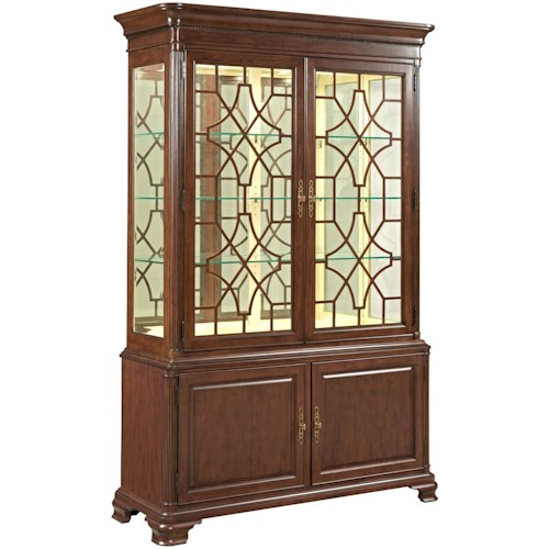 Kincaid Furniture Hadleigh Traditional China Cabinet With Adjule Shelving And Touch Dimmer Light