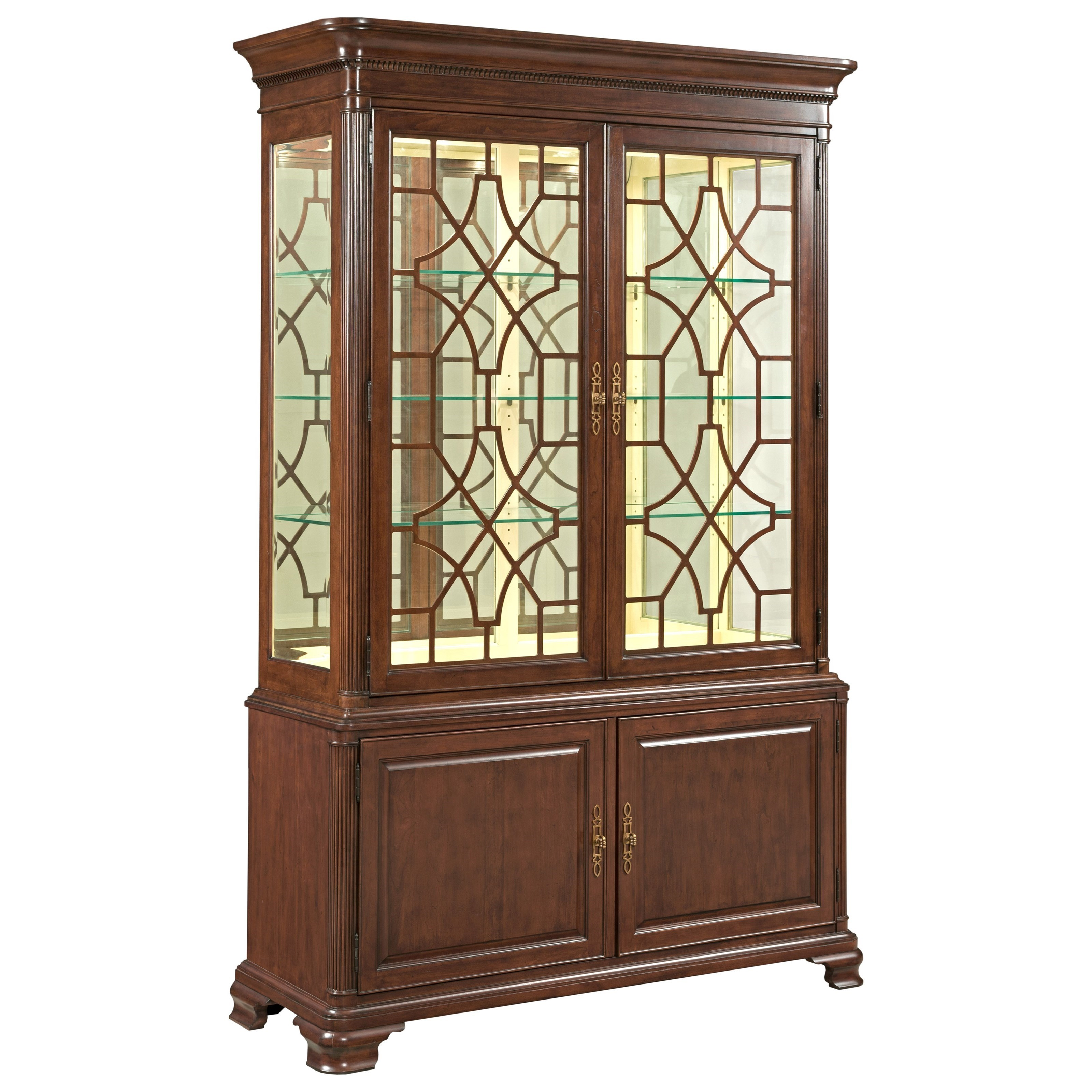 Ordinaire Kincaid Furniture Hadleigh Traditional China Cabinet With Adjustable  Shelving And Touch Dimmer Light