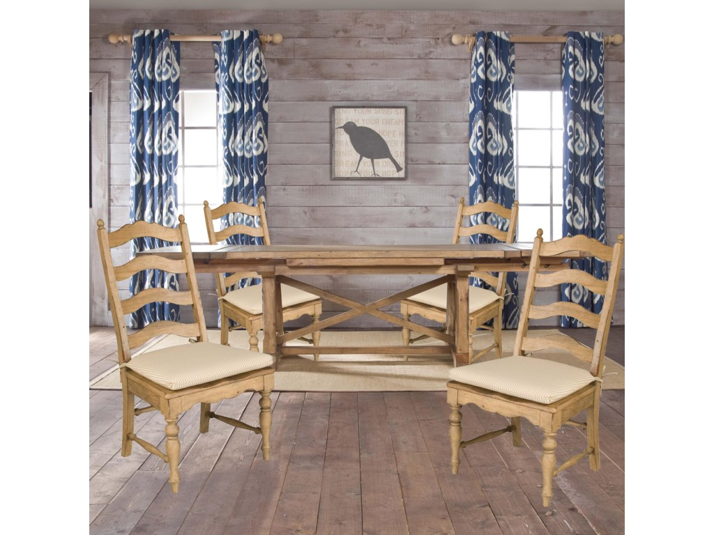 Kincaid Furniture Homecoming5 Piece Set Trestle Dining Table