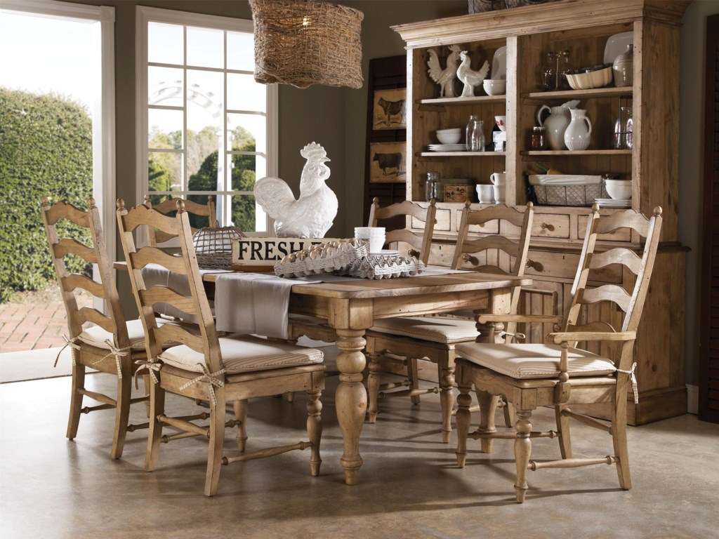 Kincaid Furniture HomecomingSeven Piece Dining Table Chair Set