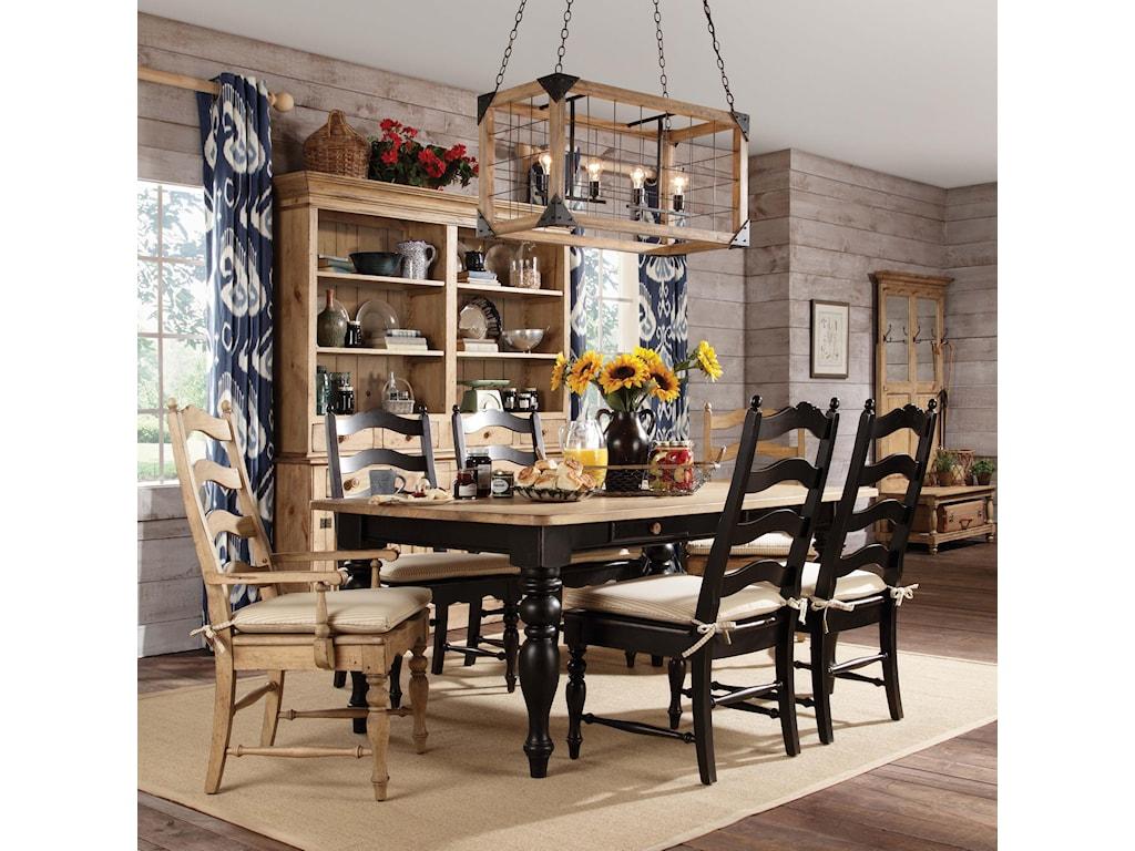 Kincaid Furniture Homecomingfarmhouse Leg Table Black