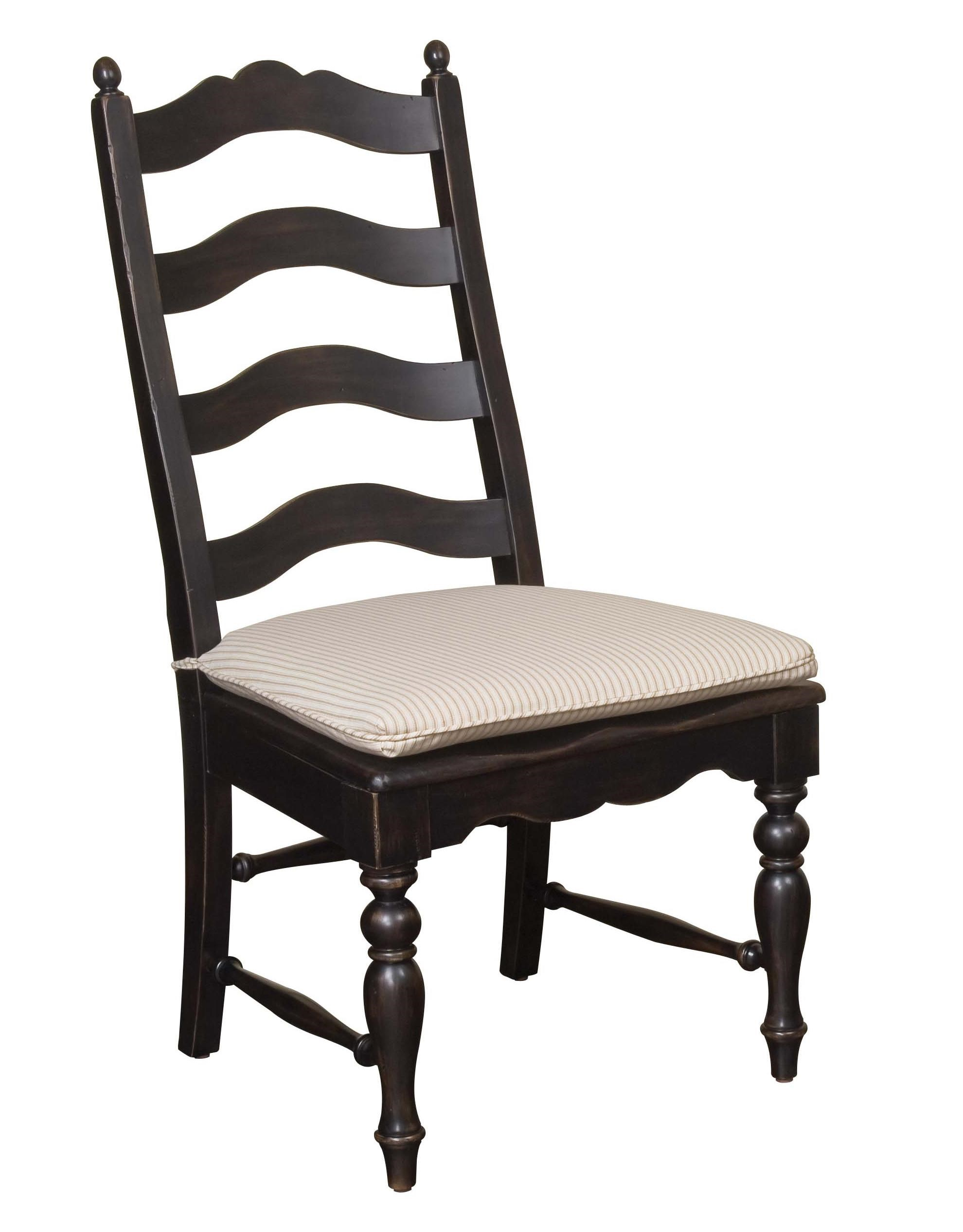 Kincaid Furniture Homecoming Ladderback Side Chair With Black Finish