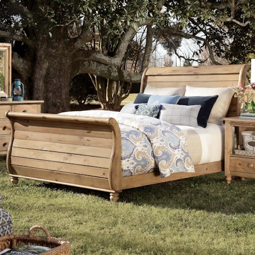 Kincaid Furniture Homecoming Queen Sleigh Bed with Headboard and Footboard