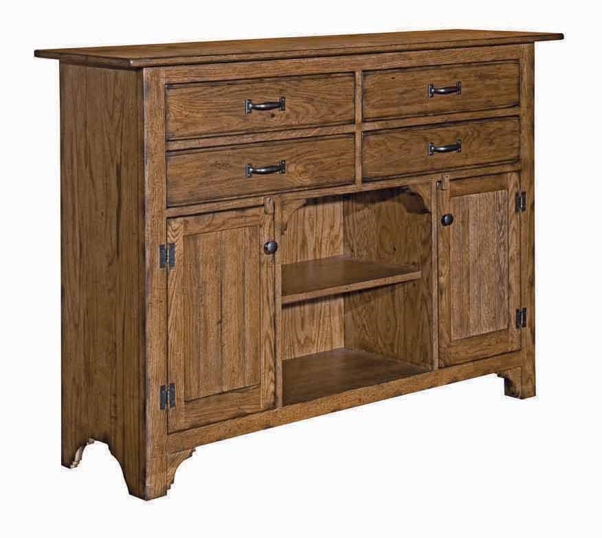 Superb Kincaid Furniture Homecoming Sideboard With Four Drawers And Two Doors   Pedigo  Furniture   Sideboards