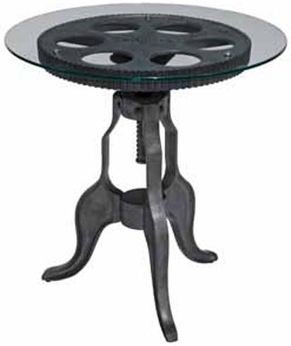 Kincaid Furniture Homecoming Gear End Table with Glass Table Top