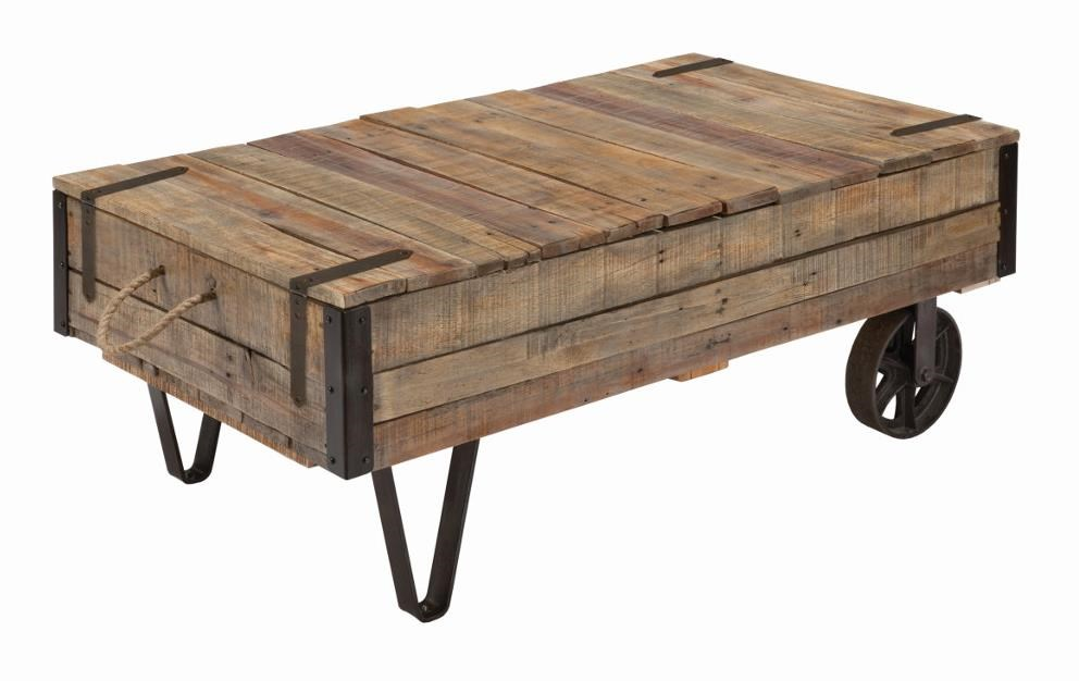 Beau Kincaid Furniture Homecoming Industrial Cart Cocktail Table With Storage
