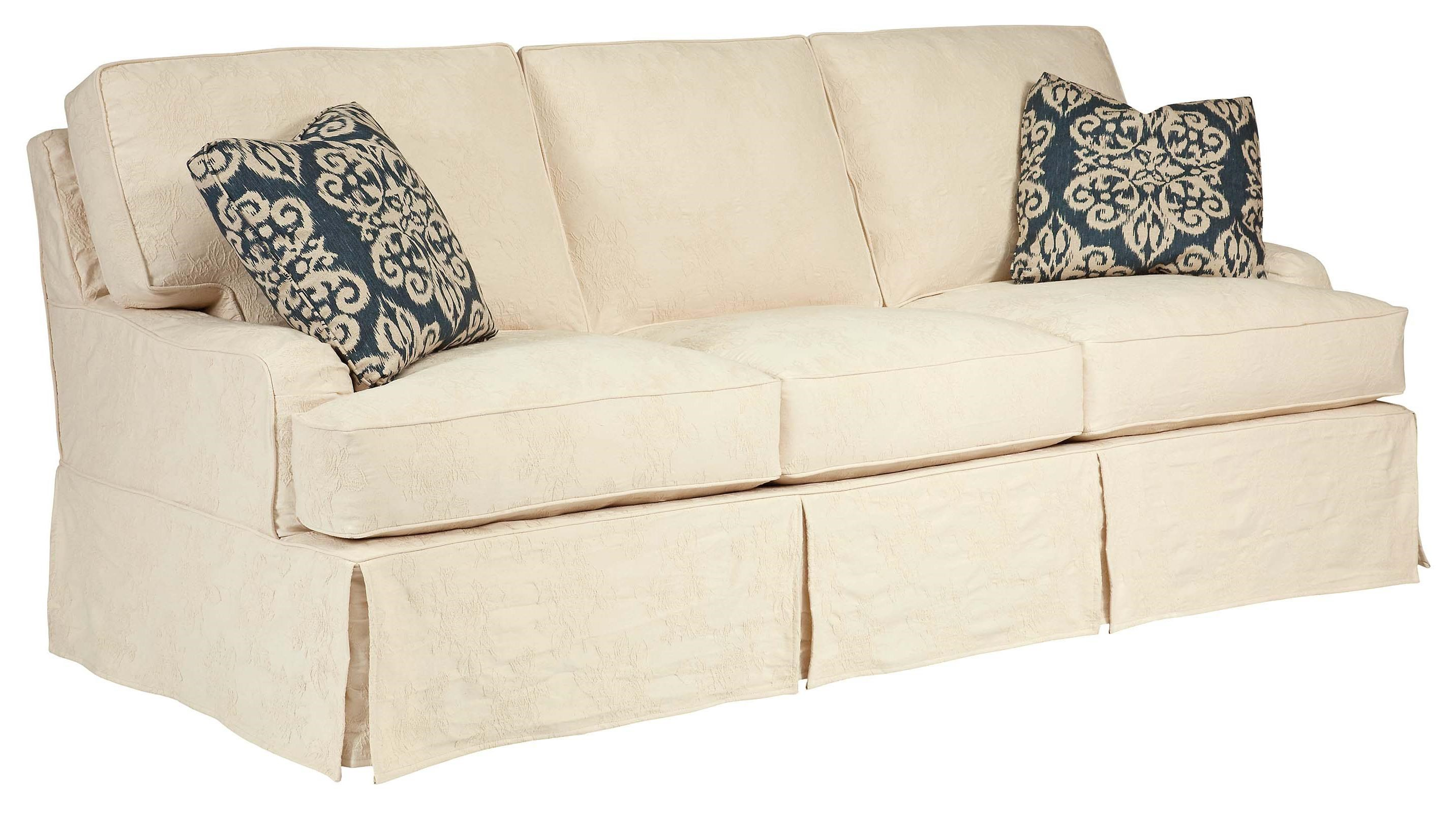 Kincaid Furniture Homecoming Simone Slipcover Sofa   Belfort Furniture    Sofas