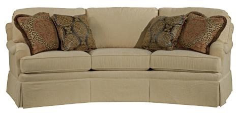 Kincaid Furniture Jackson Traditional Curved Sofa With Accent Pillows    Adcock Furniture   Sofa