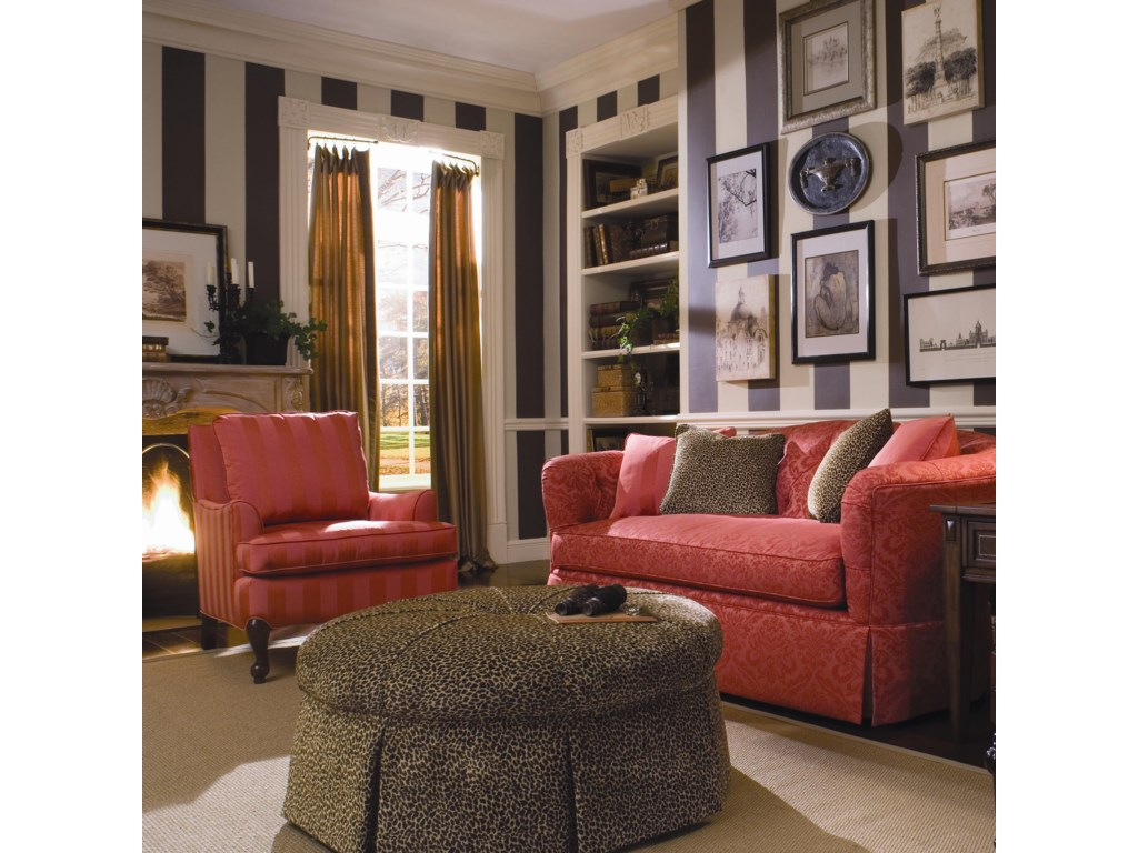 Kincaid Furniture Accent ChairsRound Ottoman