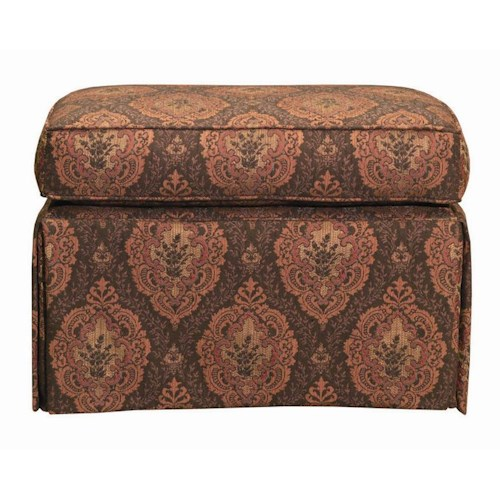 Kincaid Furniture Accent Chairs Skirted Accent Ottoman