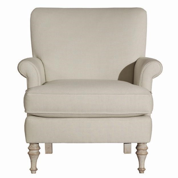 Kincaid Furniture Accent Chairs Jane Upholstered Accent Chair With Turned  Wooden Legs