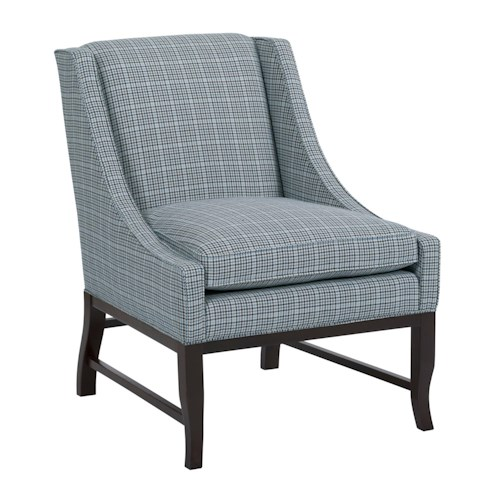 Kincaid Furniture Accent Chairs Transitional Ann Arbor Chair with Exposed Wood Base and Stretchers
