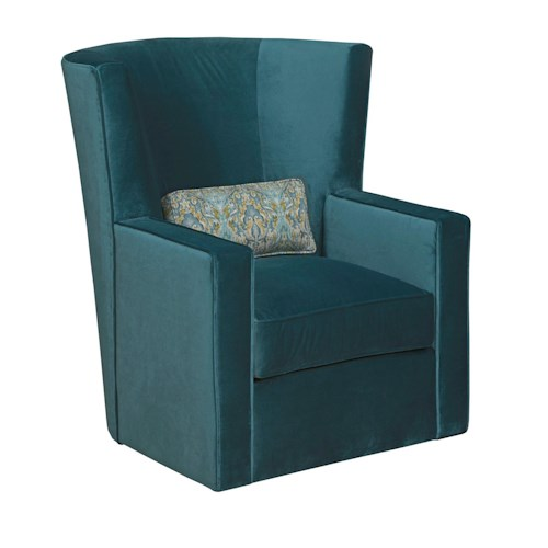 Kincaid Furniture Accent Chairs Fitzgerald Swivel Chair