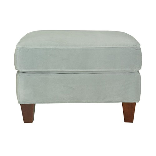 Kincaid Furniture Accent Chairs Geneva Ottoman with Tapered Block Legs