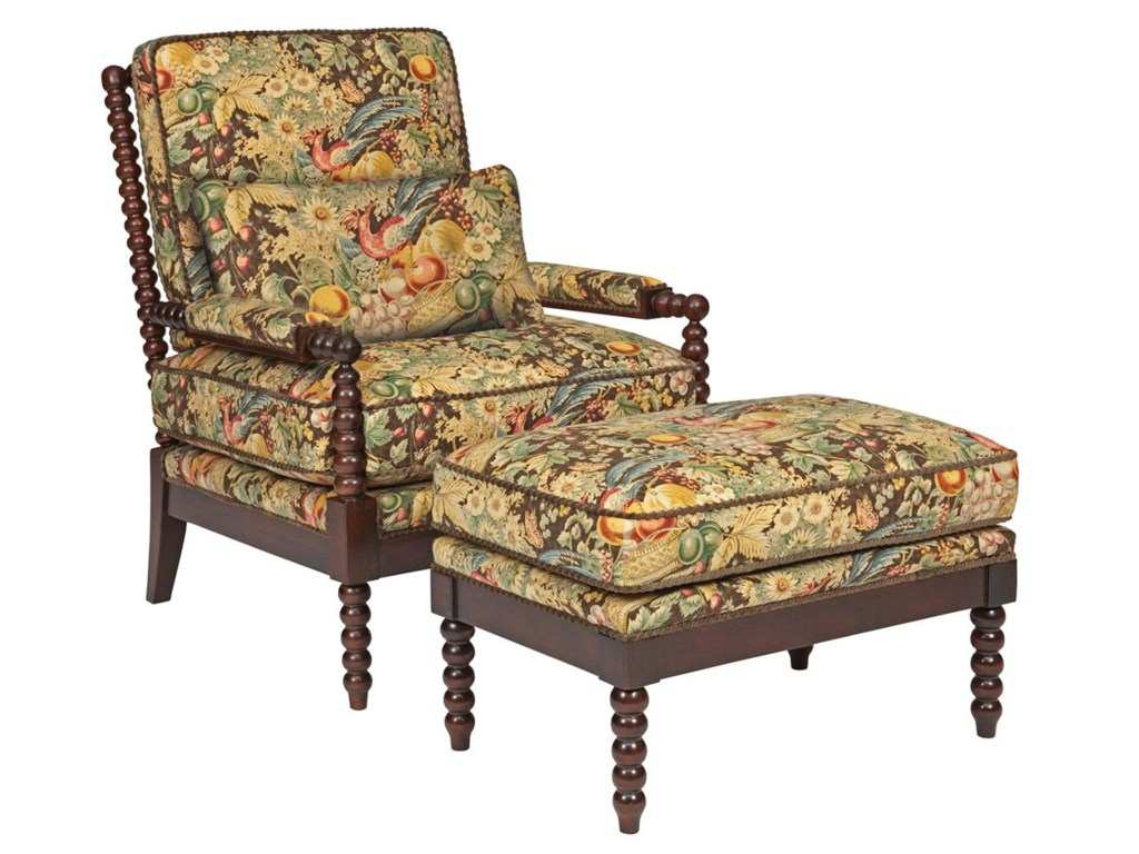 Kincaid Furniture Accent ChairsJenny Chair and Ottoman Set