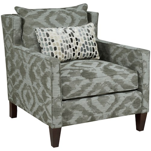 Kincaid Furniture 317 Contemporary Upholstered Chair with Track Arms