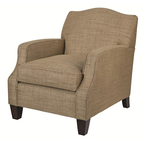 Kincaid Furniture Accent Chairs Conran Camel-Back Chair with Sloped Track Arms
