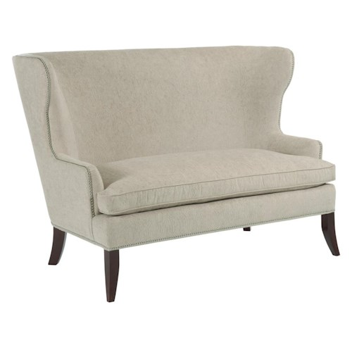 Kincaid Furniture Accent Chairs Denton Wingback Settee with Optional Nailheads