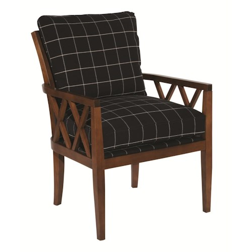 Kincaid Furniture Accent Chairs Veranda Chair with Exposed Wood Lattice Arms
