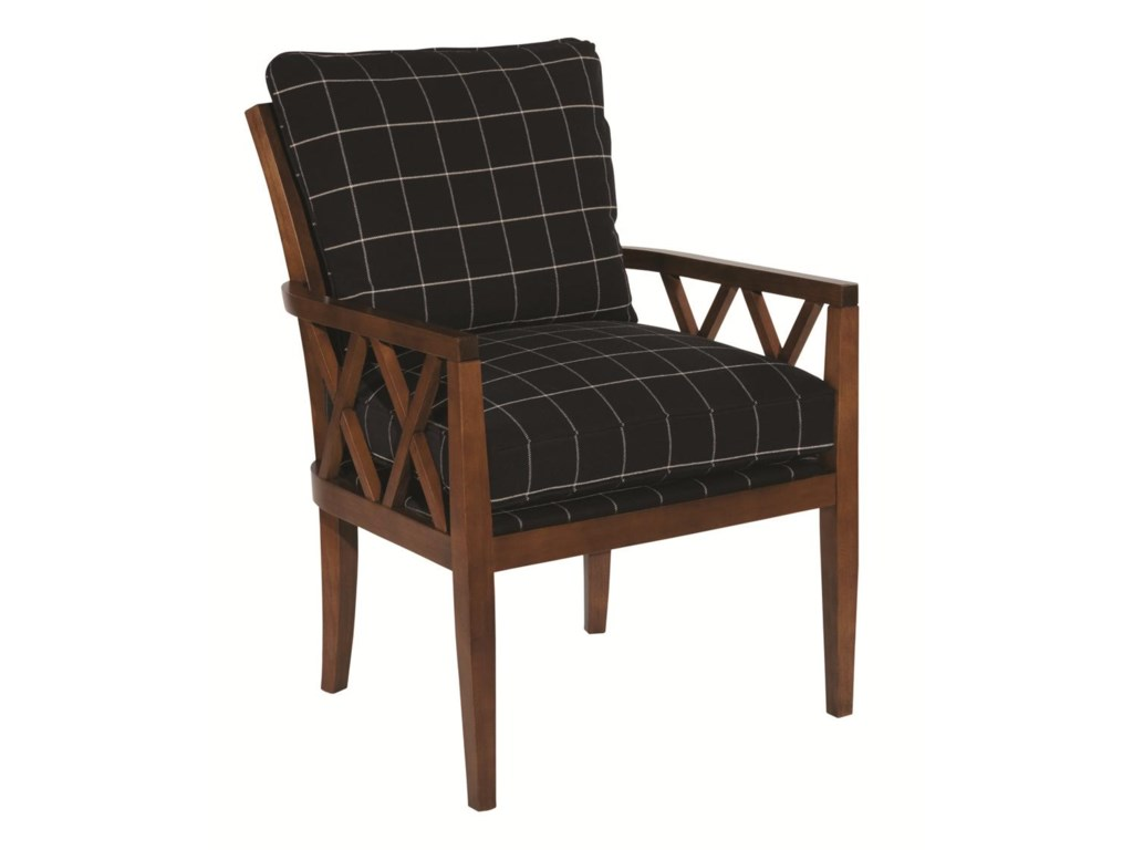 kincaid furniture accent chairs 837 00 veranda chair with exposed