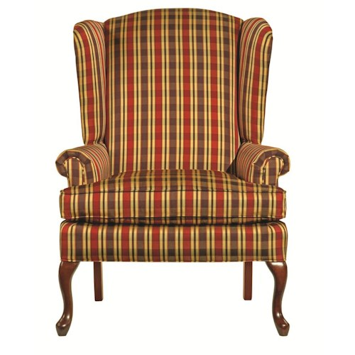 Kincaid Furniture Accent Chairs Traditional Camden Chair with Cabriole Legs and Tightly Rolled Arms