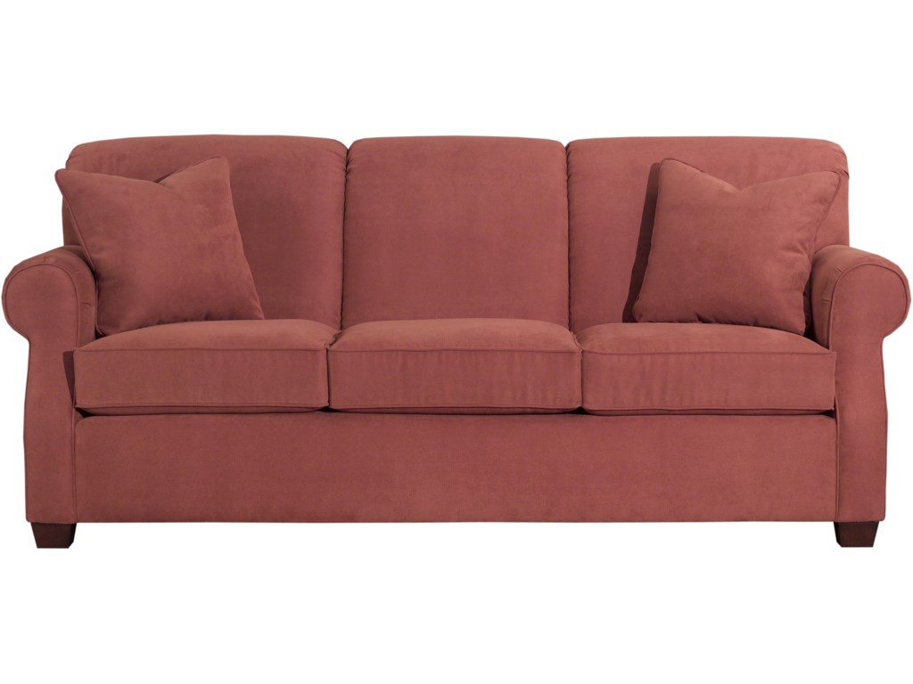 Lynchburg Sofa With Rolled Back And Tapered Wood Feet By Kincaid Furniture