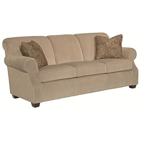 Marvelous Kincaid Furniture Lynchburg Sofa With Rolled Back And Tapered Wood Feet    Belfort Furniture   Sofa