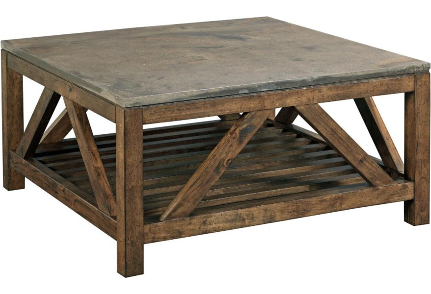 Kincaid Furniture Mason 69 1133 Industrial Rustic Square Cocktail