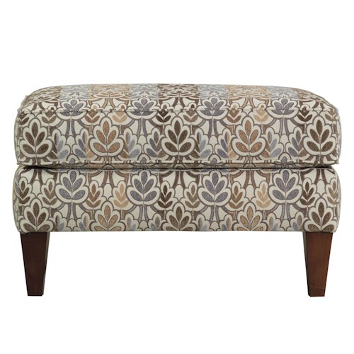 Kincaid Furniture Miami Rectangular Ottoman with Tapered Wood Legs