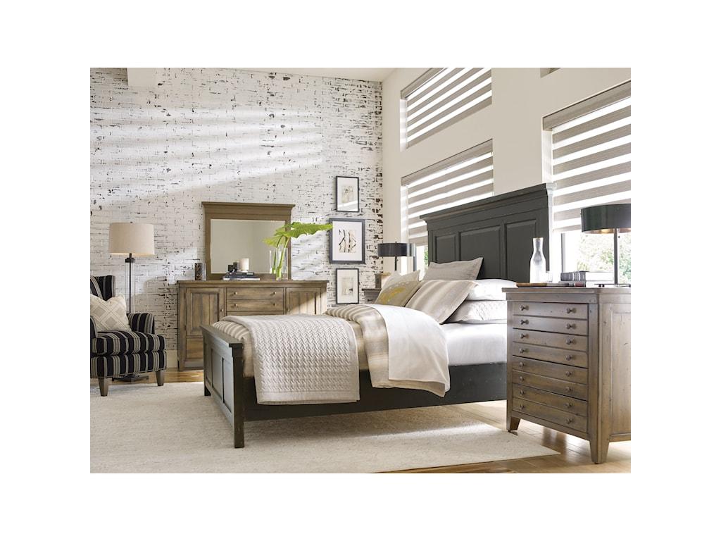 Kincaid Furniture Mill HouseDresser and Mirror Set