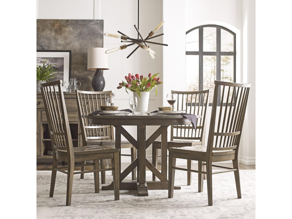 Kincaid Furniture Mill House Dining Table Set with 4 Chairs ...