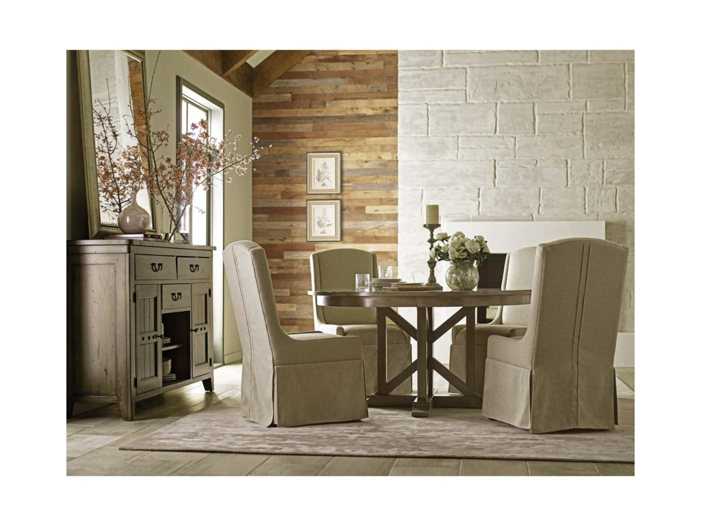Kincaid Furniture Mill HouseDining Table and Chair Set for 4