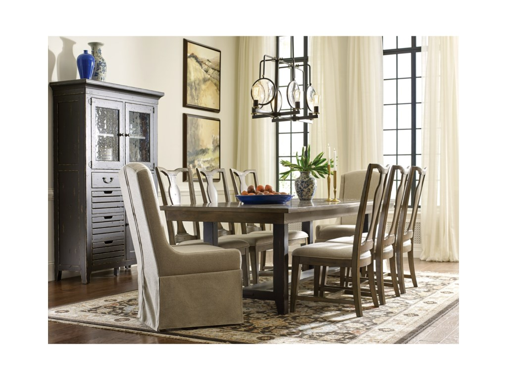 Kincaid Furniture Mill HouseDining Table and Chair Set for 8
