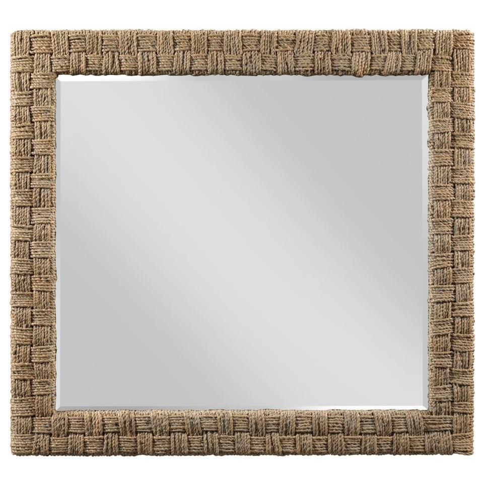 Modern Woven Seagrass Dresser Mirror