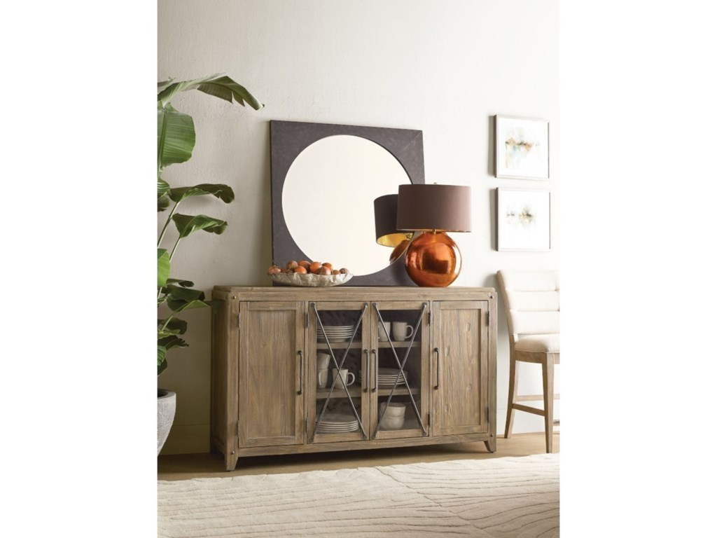 Kincaid Furniture Modern ForgeSquare Metal Mirror