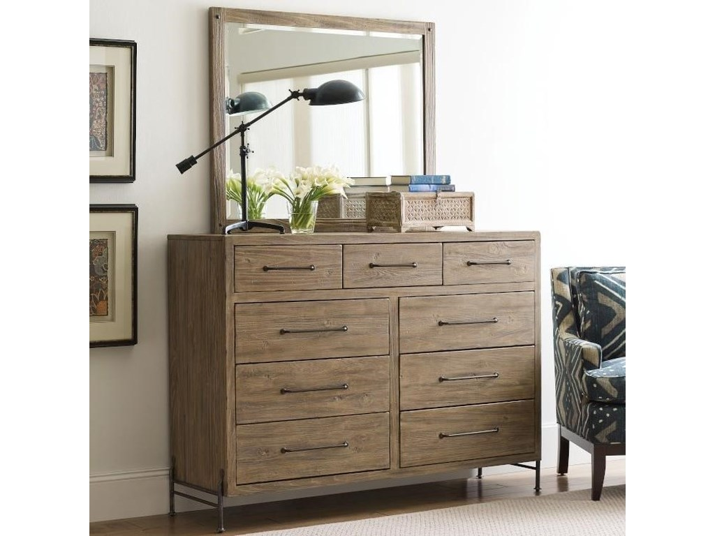 Kincaid Furniture Modern ForgeDresser and Mirror Set