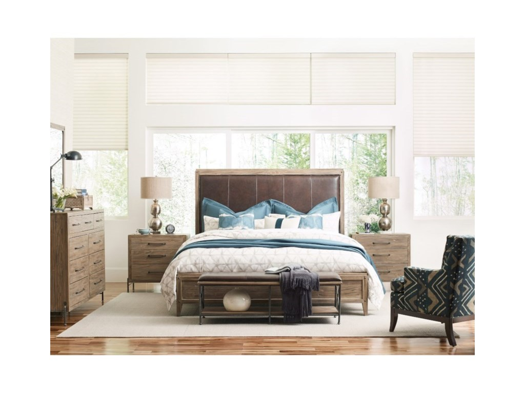 Kincaid Furniture Modern ForgeLongview Upholstered Cali King Bed