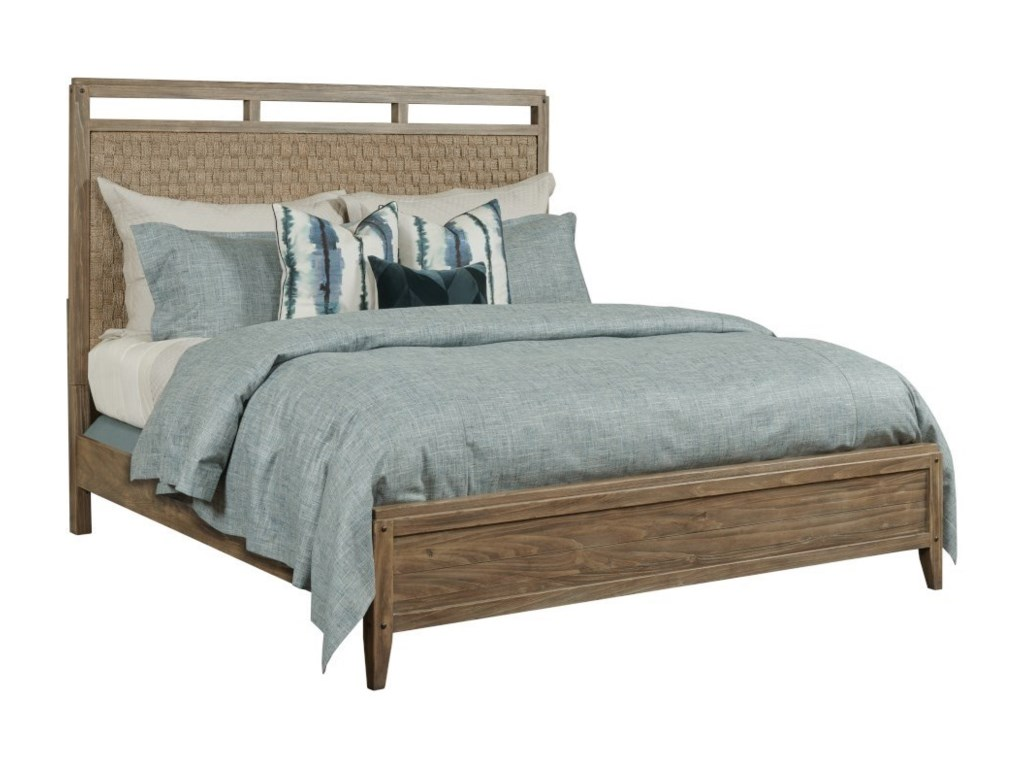 Kincaid Furniture Modern ForgeLinden Queen Panel Bed