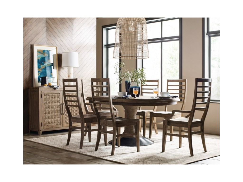 Kincaid Furniture Modern Forge7-Piece Dining Set