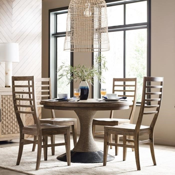 5-Piece Dining Set with Lindale Table and Canton Ladderback Chairs
