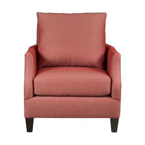 Kincaid Furniture Modern Select Customizable Chair with Slope Arms and Wood Legs