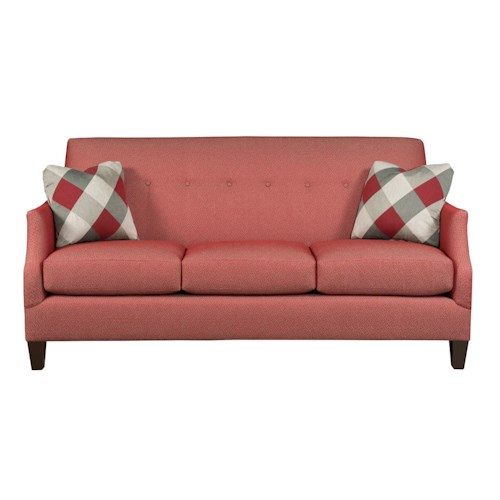 Kincaid Furniture Modern Select Customizable Button-Tufted Apartment Sofa with Sloped Arms