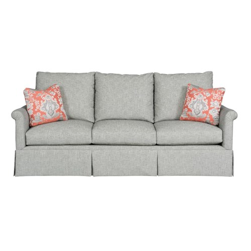 Kincaid Furniture Modern Select Customizable Grand Sofa with Fan Pleated Arms and Skirted Base