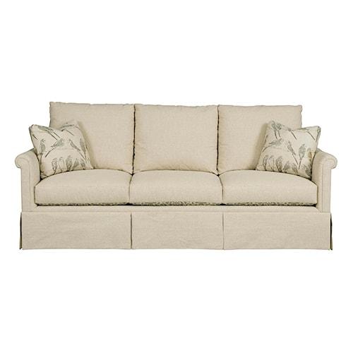 Kincaid Furniture Modern Select Customizable Grand Sofa with Rolled Panel Arms and Skirted Base