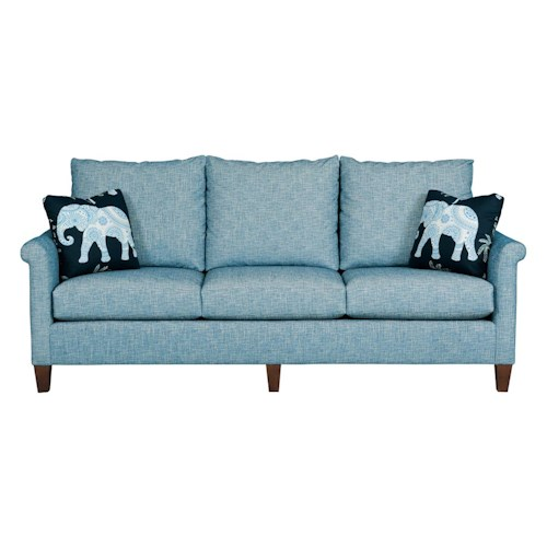 Kincaid Furniture Modern Select Customizable Grand Sofa with Sock Arms and Wood Legs
