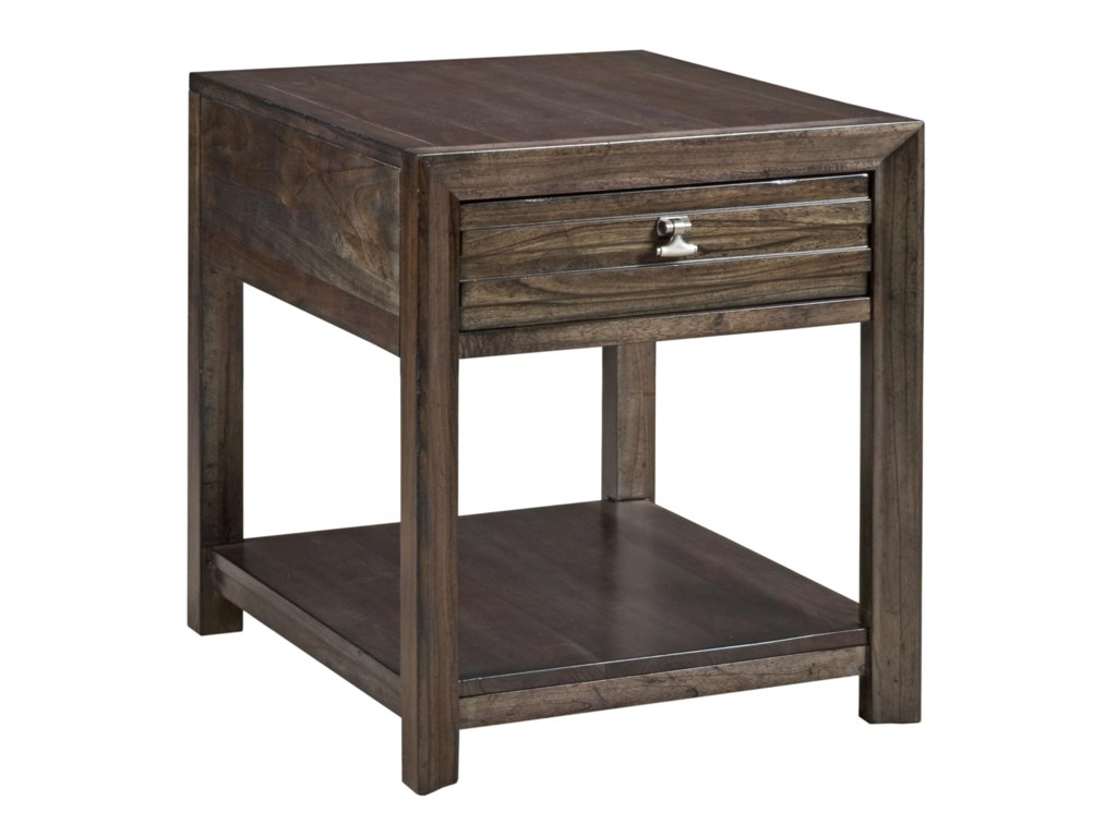 kincaid furniture montreat contemporary montreat end table with  - kincaid furniture montreat contemporary montreat end table with groovedmouldings and storage  becker furniture world  end tables