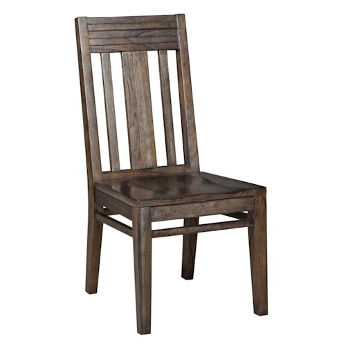 Kincaid Furniture Montreat Contemporary Slat-back Side Chair with Grooved Mouldings