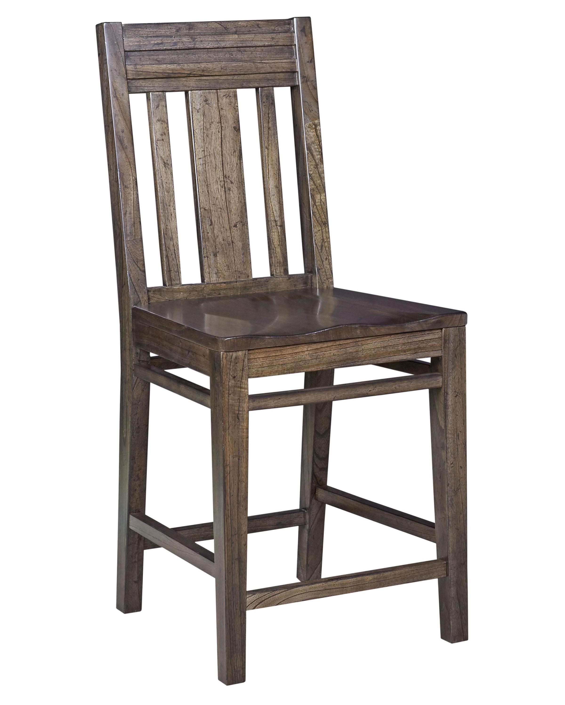 Kincaid Furniture Montreat Contemporary Solid Wood Slat Back Bar Stool