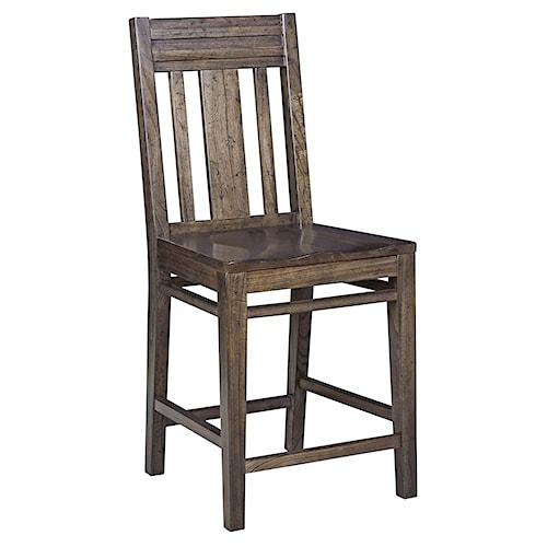 Kincaid Furniture Montreat Contemporary Solid Wood Slat-Back Bar Stool