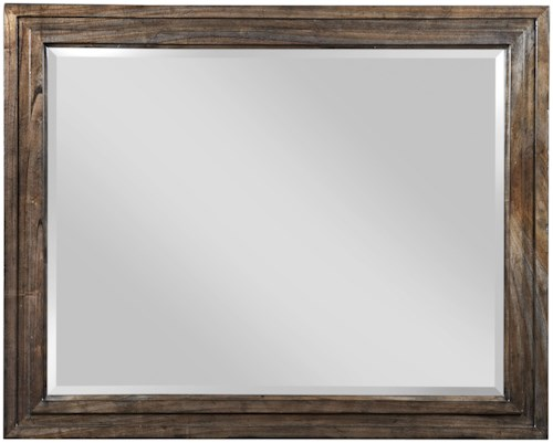 Kincaid Furniture Montreat Track Landscape-Style Mirror with Solid White Cedar Frame